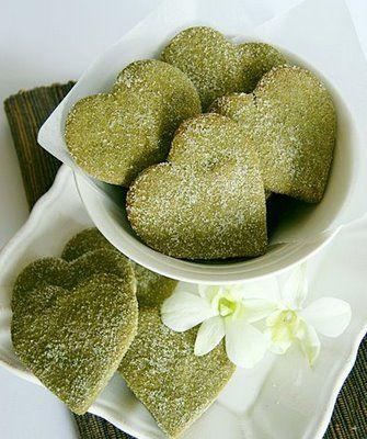 Biscotti_tè_verde_cuore